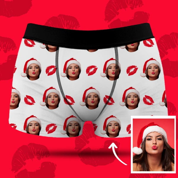 Men's Custom Face Boxer Shorts - Kiss