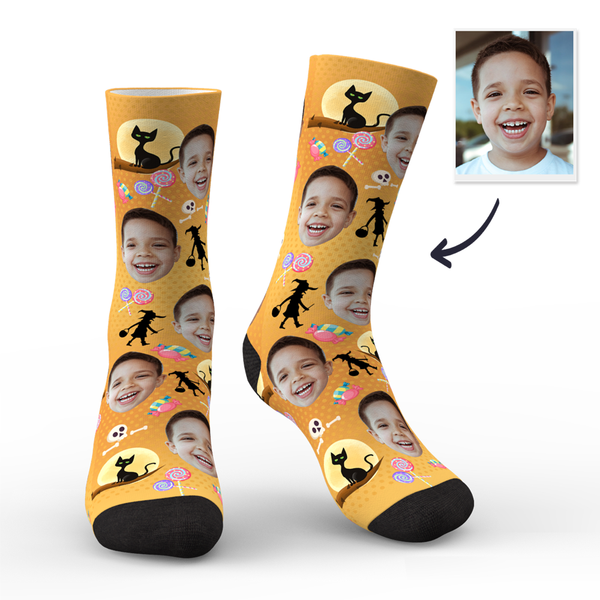 Custom Face Socks Halloween Trick or Treat