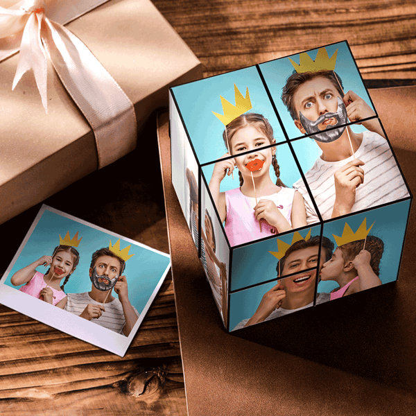 Custom DIY Magic Folding Photo Rubik's Cube For Dad