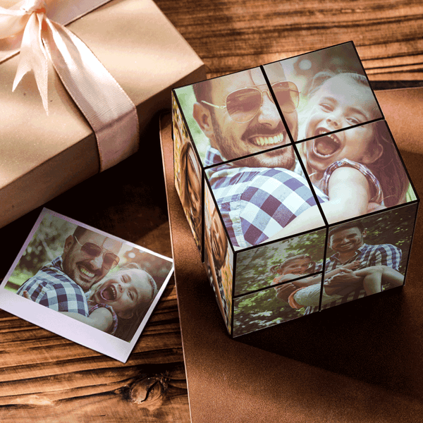 Custom DIY Folding Picture Cube For Father