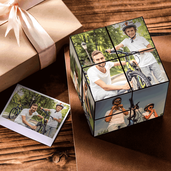 Personalized DIY Folding Picture Cube | Father's Day Gifts