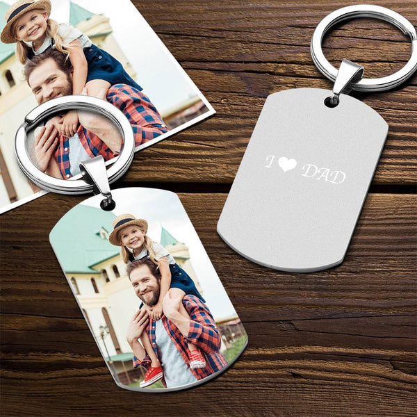 Custom Color Printing Photo Keychain