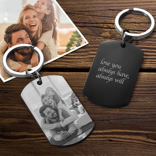 Custom Photo Engraved Keychain