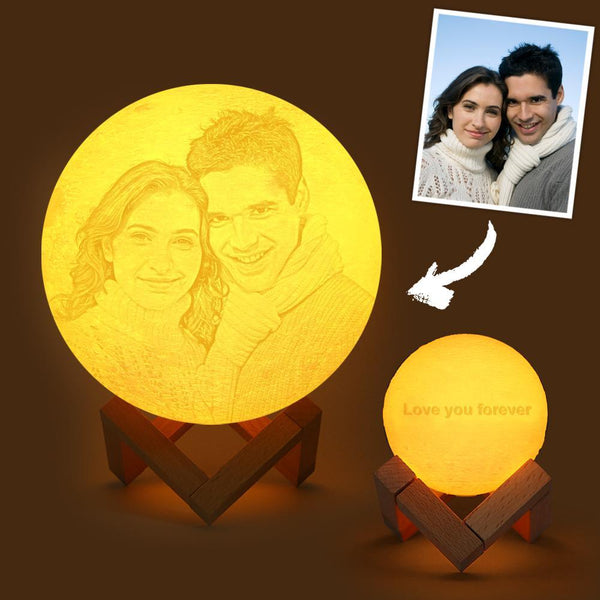 Custom Engraved 3D Printing Photo Moon Lamp | Remote Control to Convert 16 Colors