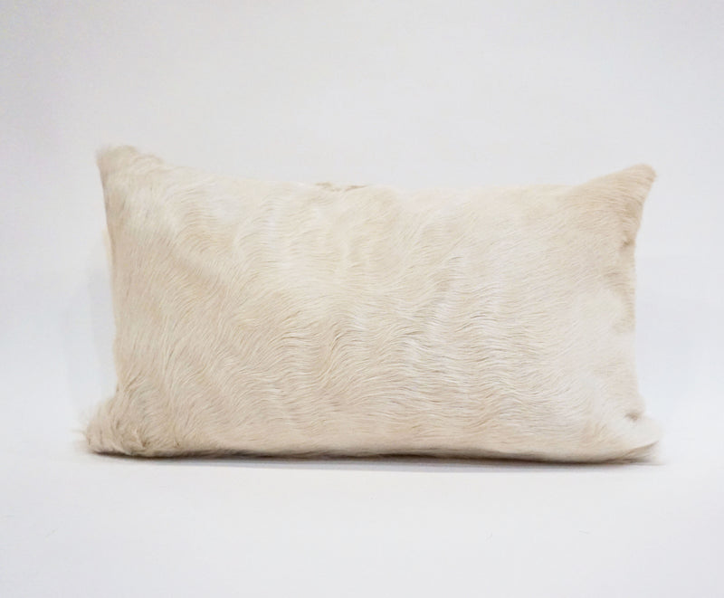 Natural Pure White Cowhide Pillow
