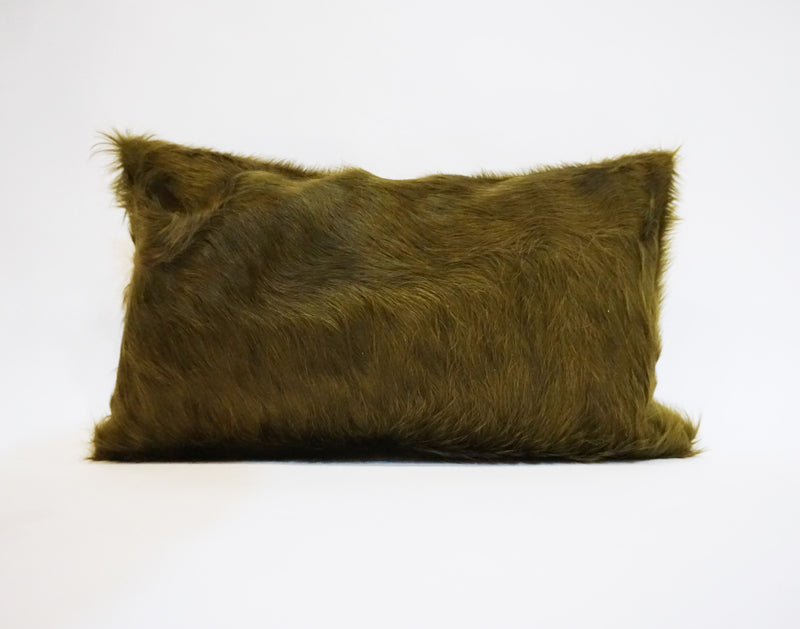 Dyed Moss Cowhide Pillow
