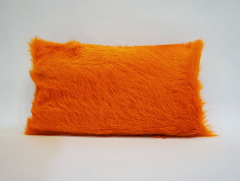Dyed Pumpkin Cowhide Pillow