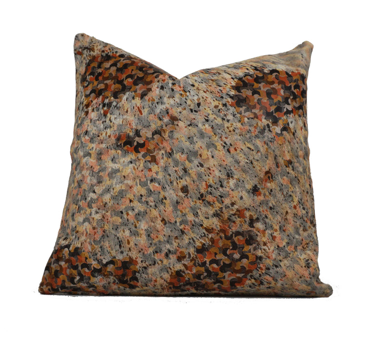 square cowhide pillow
