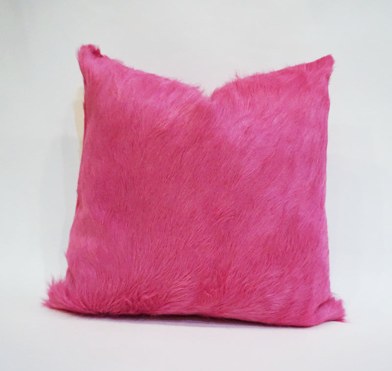 Dyed Azalea Cowhide Pillow