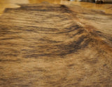 brown black brindle cowhide rug