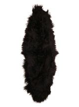 Double Icelandic Sheepskin In Natural Black