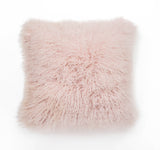 Mongolian Curly Lamb Pillow - Blush
