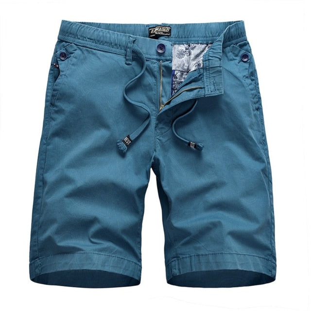 Mens Shorts Summer Office Solid Color