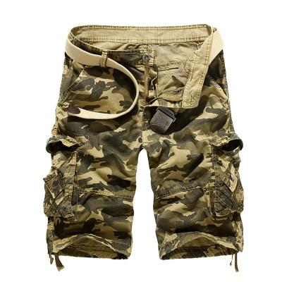 Men's Loose Fit Outdoor Military Camo Cargo Shorts