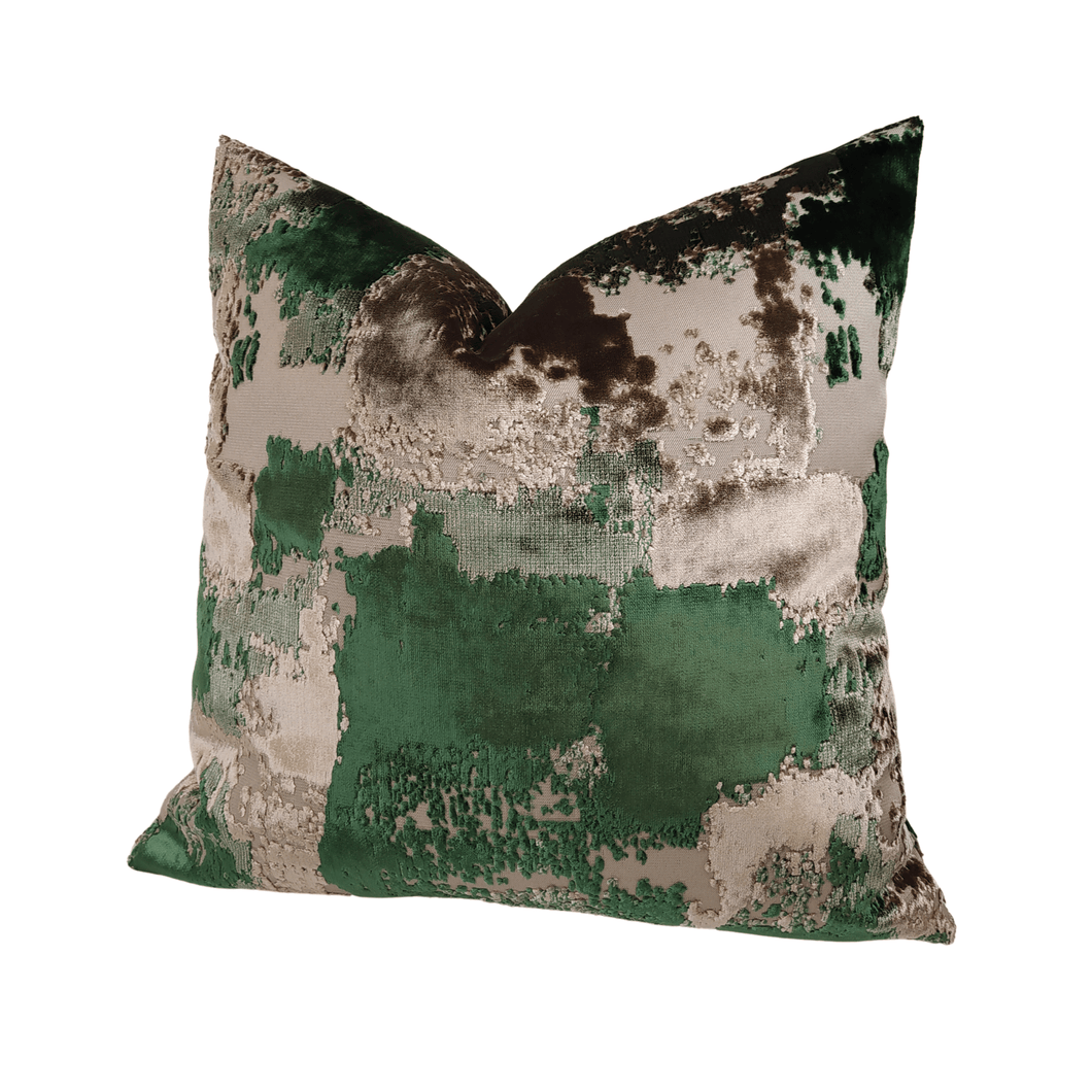 throw pillow- green velvet pillow covers