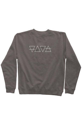 Pigment Dyed Crew Neck White Logo - Natural Order Clothing