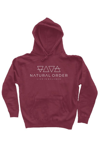 Heavyweight Pullover Hoodie White Logo - Natural Order Clothing