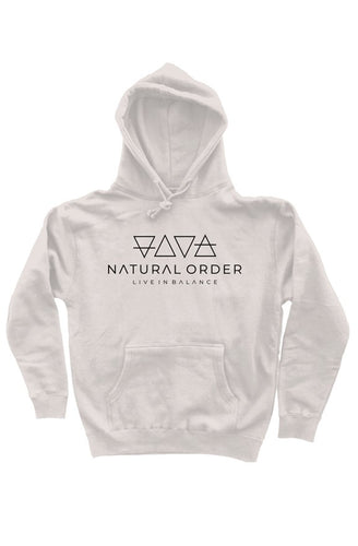Heavyweight Pullover Hoodie Black logo - Natural Order Clothing