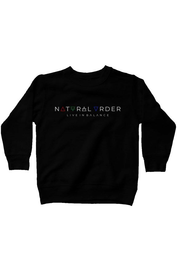 Kids Fleece Logo Sweatshirt - Natural Order Clothing