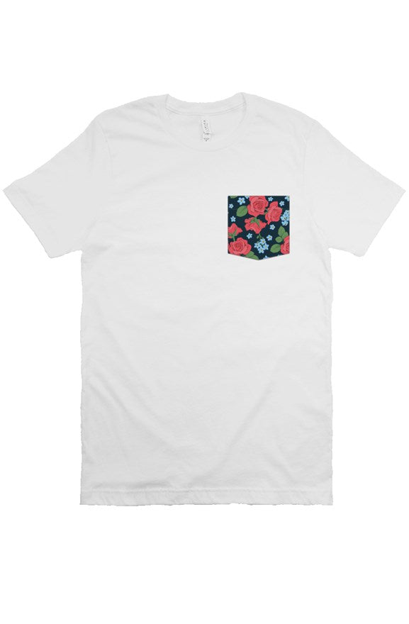 Mens Floral 1 Pocket Tee - Natural Order Clothing