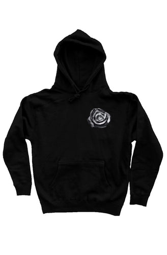 Black Rose Heavyweight Hoodie - Natural Order Clothing