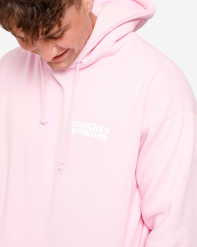Load image into Gallery viewer, Naughty Possum Light Pink Hoodie