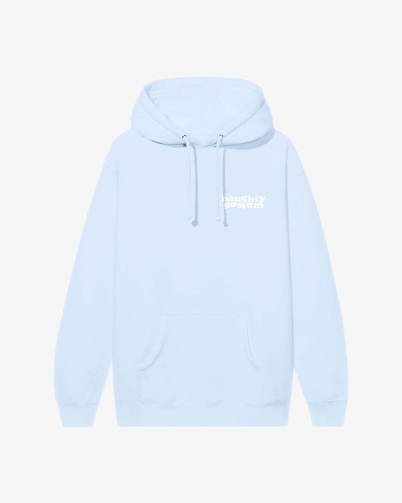 Naughty Possum Light Blue Hoodie