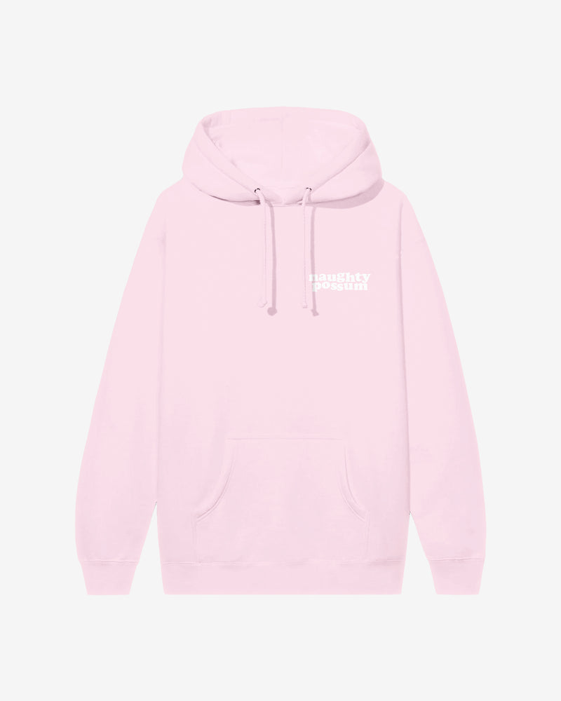 Naughty Possum Light Pink Hoodie