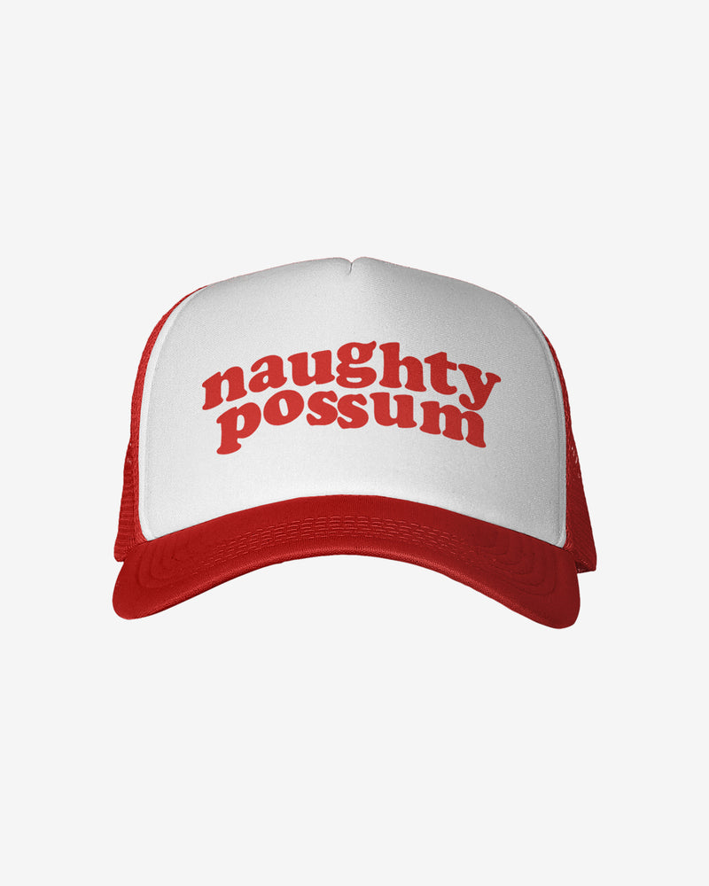 Naughty Possum Red Trucker Hat