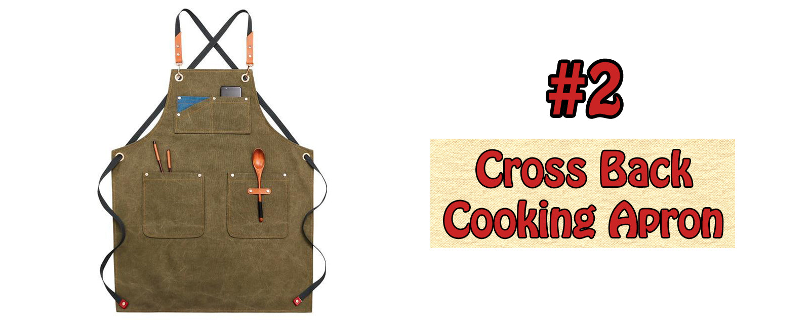 Cross Back Cooking Apron