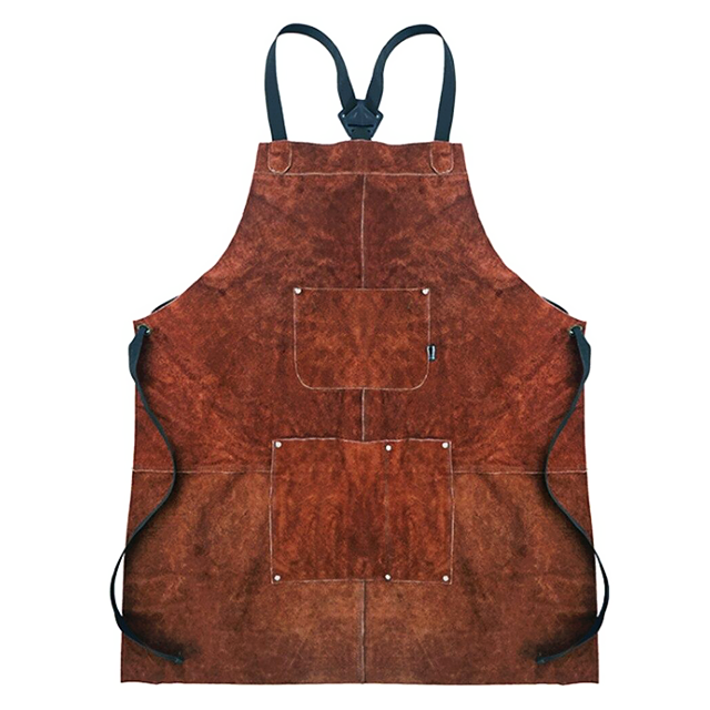 Brown <br /> Leather Apron