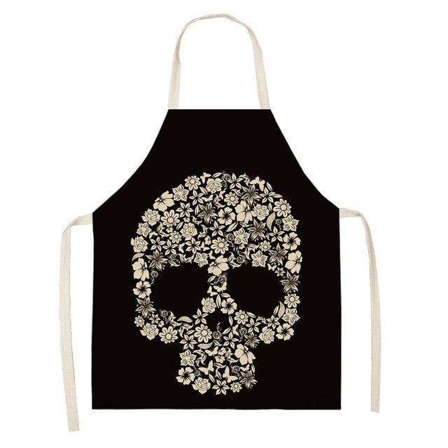 Flower Skull <br /> Apron for Women