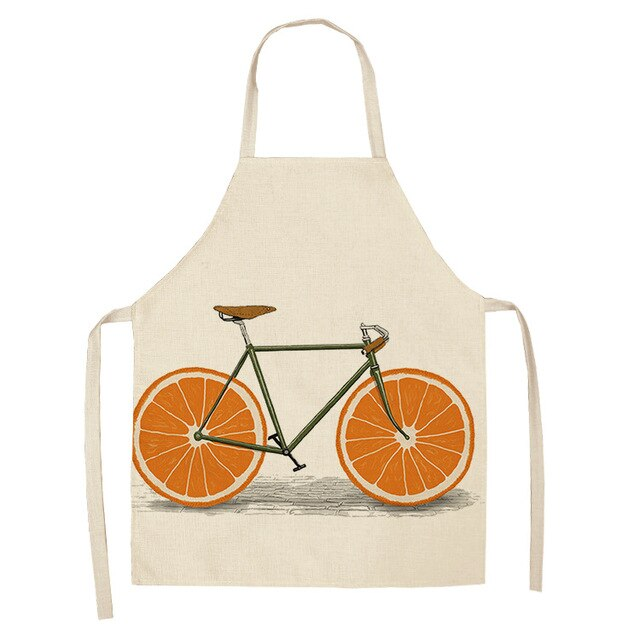 Orange Bicycle <br /> Apron for Women