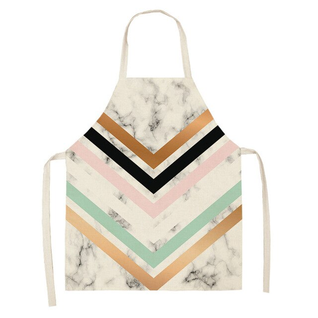 Stripes and Marble <br /> Apron for Women