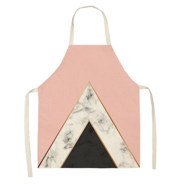 Geometric Marble <br /> Apron for Women