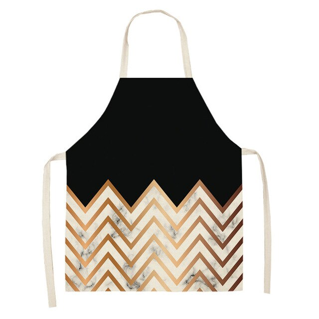 Gold and Black Marble <br /> Apron for Women