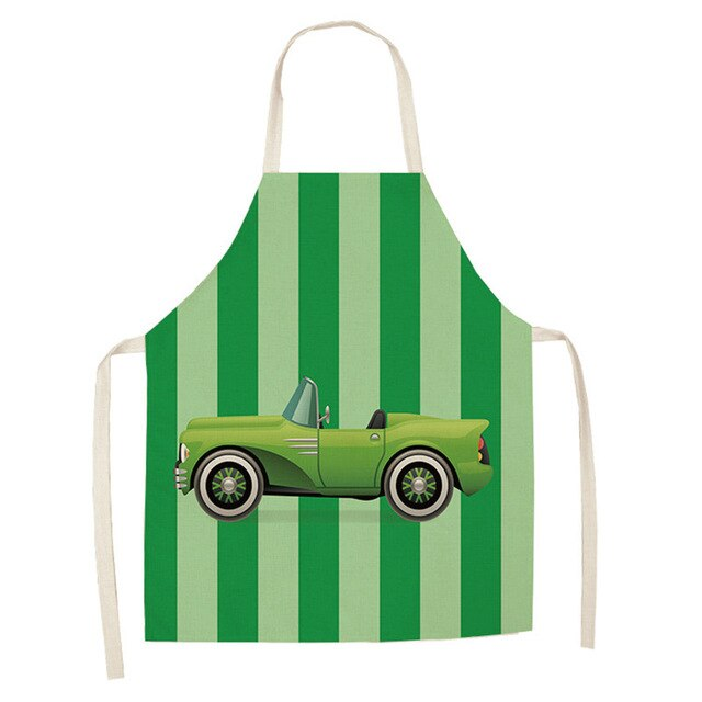 Green Car <br /> Apron for Kids
