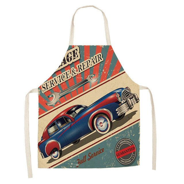 Vintage Blue Car <br /> Apron for Men