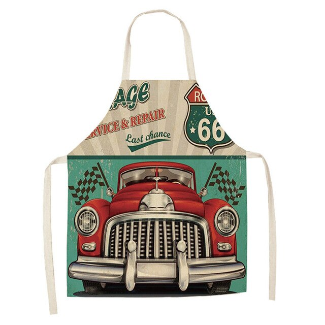 Vintage Red Car <br /> Apron for Men