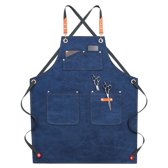 Cross Back <br /> Barber Apron