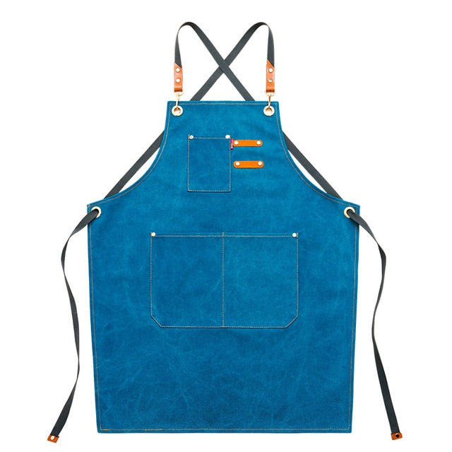Cross Back <br /> Apron with Pockets