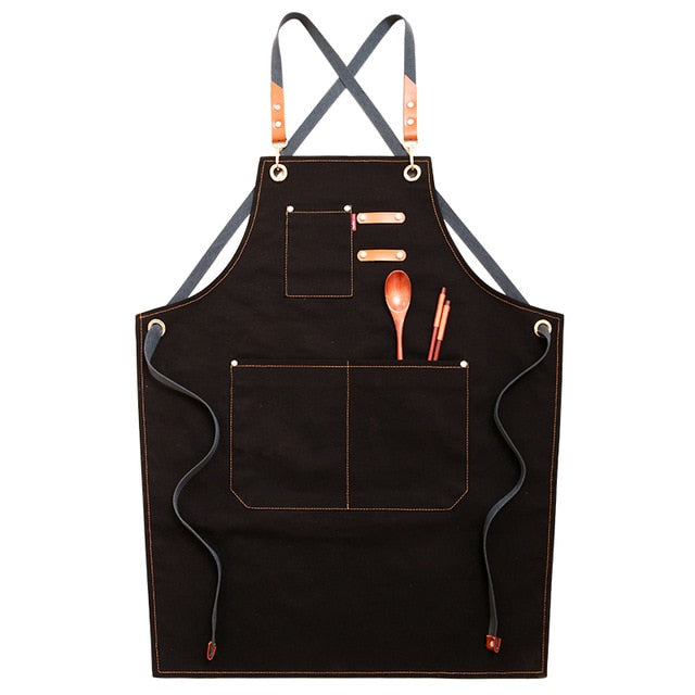 Black <br /> Cross Back Apron