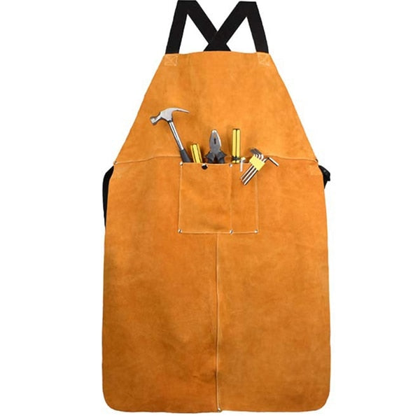 Cross Back <br /> Leather Apron