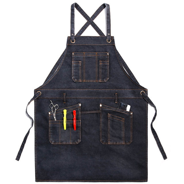 Black <br /> Denim Apron
