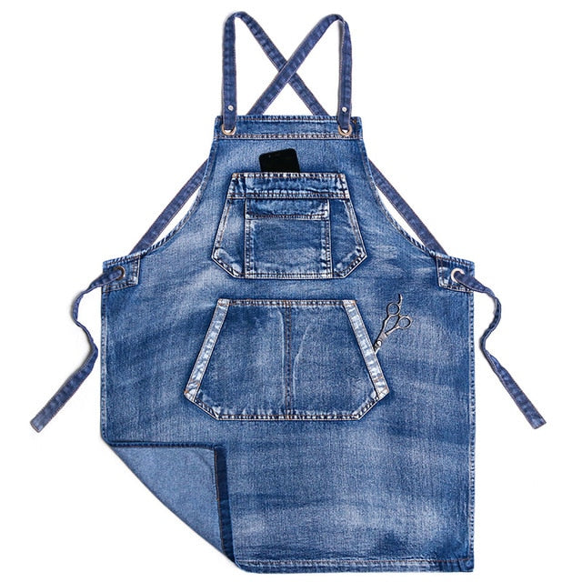 Blue <br /> Denim Apron