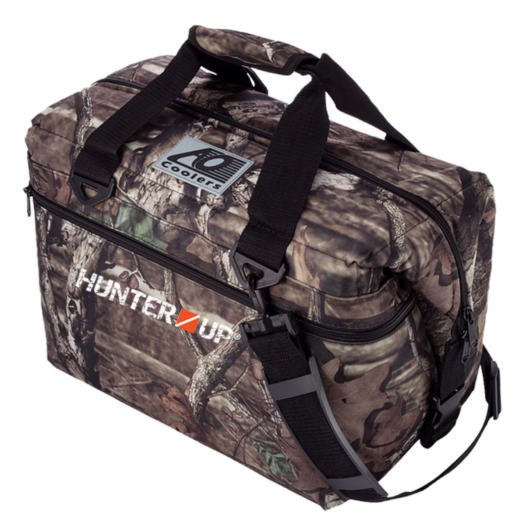 Custom Hunter Up 24 Can Mossy Oak Camo Soft Cooler