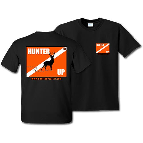Hunter Up Deer Tshirt (Black)