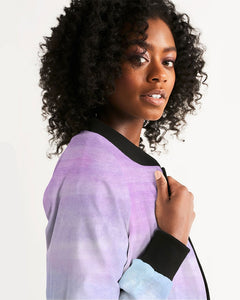 Purple Ombre Skate Life Women's Bomber Jacket