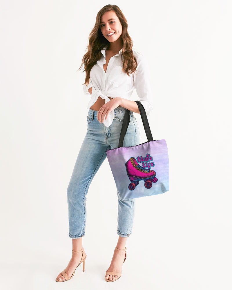 Purple Ombre Skate Life Canvas Zip Tote