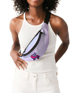 Load image into Gallery viewer, Purple Ombre Skate Life Crossbody Sling Bag